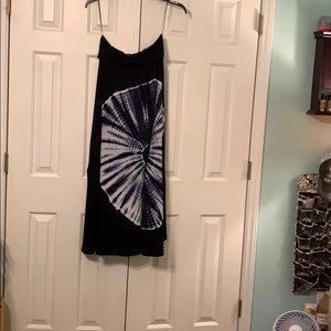 Maxi tie dye skirt. Boho. L